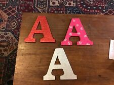 Children's painted 6 mm MDF letters A