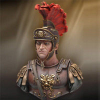 """1:10 """"Roman Soldier"""" Resin Bust Figure Model Unfinished"""