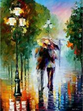 Paint By Numbers Walking In The Rain Van-Go 40CMx50CM Canvas