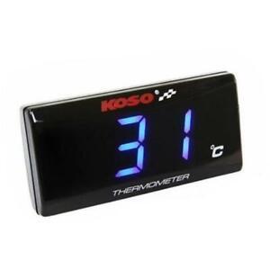 Koso Thermometer SUPER SLIM NEU f. Motor- Öl- Wassertemperatur BA024B10