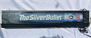 Silver Bullet Coors Light light up Bar sign