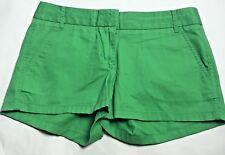 """J Crew Chino Shorts Womens Size 4 Green Broken-In Cotton Casual City Fit 3"""""""