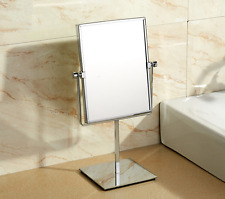 Chrome Brass Beauty Bathroom Double Side Magnifying Makeup Square Mirror