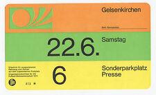 Orig.Ticket / Parkticket   WM Deutschland 1974    ZAIRE - BRASILIEN  !!  RARITÄT