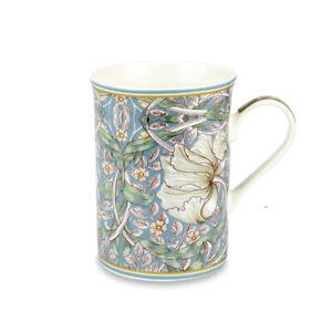 Fine China Mug William Morris Pimpernel Tea Coffee Duck Egg Blue Gift Boxed