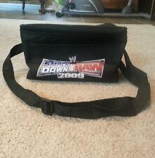 A black Smack Down vs Raw 2009 insulated lunch bag