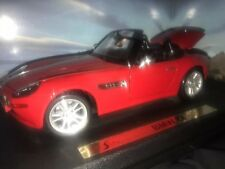 Maisto Special Edition 1/ 18 Scale, BMW Z8 Red Diecast Car Red Plus Display Case