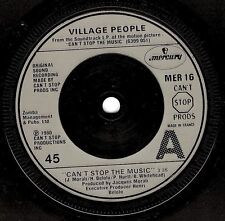 """VILLAGE PEOPLE CAN 'T STOP THE MUSIC 7"""" Vinyl Record FRENCH MERCURY 1980 EX"""