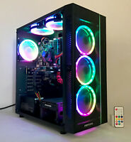 Gaming PC Desktop Computer Intel i5 16G,2T,Win10,WIFI,GTX 1060 3GB,6 RGB Fan