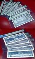 5 CONSECUTIVE ASTERISK REPLACEMENT /STAR S/S BANK OF CANADA 1954 $5 PMG 65 EPQ