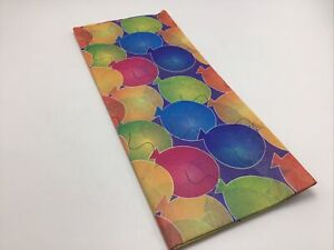 """Tissue Paper Printed Balloons Birthday Primary Colors Gift 9 sheets 19"""" x 26"""""""