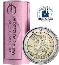 25 Münzen Italien 2 Euro 2014 Carabinieri Gedenkmünzen prägefrisch in Rolle