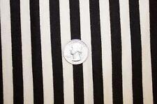 Black White 1/2 Stripe Jersey Knit Print #68 Poly Rayon Spandex Lycra Fabric BTY