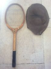 Vintage Slazenger Queens Junior Tennis Racket & Cover 1950s Prop Window Display