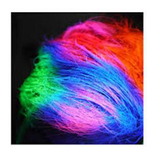 UV GEL CAPELLI Fluo Pitture Rave Party Colori brilla al buio 7 colori da 20ml