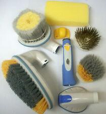CARRAND Wash Brushes w/ Power Water Hose Nozzle and Bug Scrub Sponge Kit
