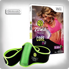 Zumba Fitness Core with Fitness Belt Nintendo Wii *in Excellent Condition*