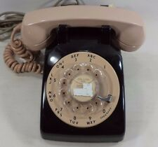 Vintage Black And Pink Western Electric Rotary Dial Style Home Phone Bell System
