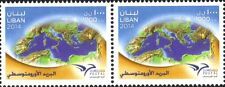 Lebanon 2014 Euromed Postal Block of 2 MNH The First Mediterranean Union stamp
