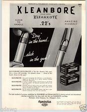 1937 PAPER AD 2 Sided Kleanbore Ammo Ammunition .22 Kleankote Shells Cartridges