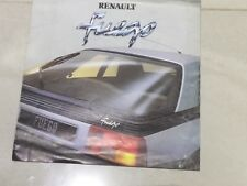 Renault Fuego 1980-81 UK Market Launch Foldout Sales Brochure TL TS GTS TX GTX