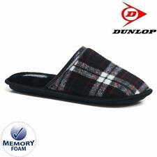 Durable Non-Marking Ruber Sole Soft Faux Suede Outer Warm and Stylish Tartan Plaid Fleece Lining Beige Deluxe Comfort Mens Faux Suede Memory Foam Dress Slipper Size 9-10 Mens Slippers