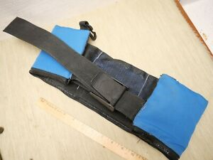 Zippered Closure 10# Scuba Dive Belt with 10 lbs Lead Weights Black & Blue