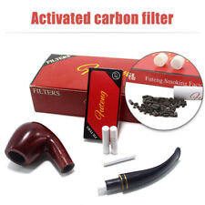 200pcs 9mm Cigarette Smoking Tobacco Pipe Filter Activated Carbon Smoke Tools