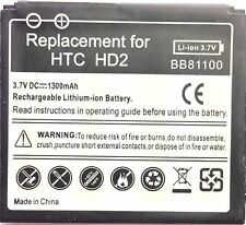 Replacement Quality Battery for HTC Touch HD2 T8585 Leo BB81100 BA S400 1300mAH