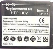 Reemplazo de la batería de calidad para HTC Touch HD2 T8585 Leo BB81100 BA S400 1300mAH