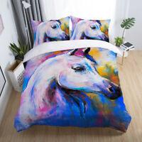 3D Painting Horse Duvet Cover Set Bedding Set Animal Quilt Cover Pillow Case