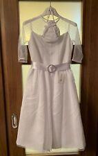 Marie Amelie Holy Communion, Bridesmaid White Dress Mesh Sleeves + Bag Age 10