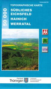Wanderkarte Südliches Eichsfeld - Hainich, Werratal; Blatt 54 / Thüringen