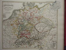 1846 SPRUNER ANTIQUE HISTORICAL MAP ~ GERMANY 1493 TO 1618 PERIOD OF REFORMATION