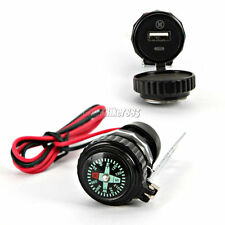 12V USB Charger Compass For Harley Dyna Softail Sportster Touring XL 1200 883