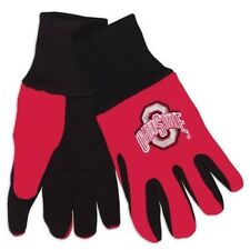 OHIO STATE Logo COLLEGE SPORT GLOVES Red with Black Palm Adult Large Licensed