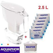 AQUAPHOR TIME Water Filter Pitcher Jug White (2.5L) 1 + 6 Replacement cartridges