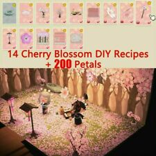🌸Animal Crossing New Horizon Cherry Blossom DIY + 200 Petals + All 14 DIY🌸