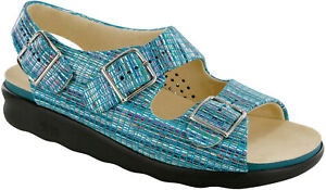 SAS Relaxed Rainbow Teal, Women's Sandal