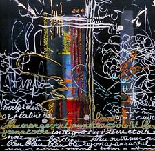 TABLEAU, original  DORE, écriture, art contemporain, signé Poiret