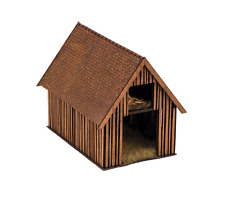NOCH HO SCALE 1/87 WOODEN BARN KIT WITH ADULT SOUNDS | BN | 66701