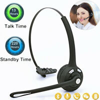 Noise Cancelling Wireless Handsfree Bluetooth Mic Headset Headphone For Trucker