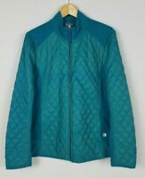 Talbots Women's XL Teal Long Sleeve Quilted & Knit Long Sleeve Full Zip Jacket