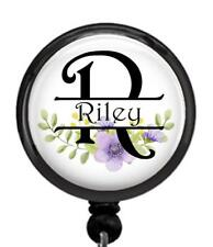 Personalized Custom Initial & Name Id Badge Reel Retractable Work Id Holder