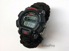 550 Paracord ULTIMATE Watch Casio G-Shock 200M Survival Kit knife firesteel comp