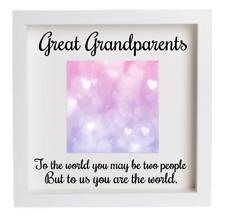 Great Grandparents Decal Vinyl Sticker Ribba Box Frame Mount Gift Photo Crafts