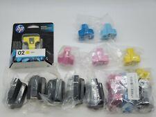 LOT of 17 HP 02 Ink Cartridge For HP 02 Photosmart C7280 3310 D7360 D7160 8250