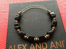 RARE ALEX and ANI ASSORTED VINTAGE BEADED SINGLES Square Cube Bangle BRACELET 💎