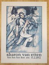 2012 Sharon Van Etten - Austin Silkscreen Concert Poster s/n by Farley Bookout