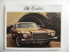 Brochure CHRYSLER USA 1976 CORDOBA